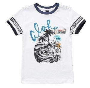 T-SHIRT REPLAY SB7527.052.20994-001 ΛΕΥΚΟ (152ΕΚ.)-(12ΕΤΩΝ) βρεφικά   παιδικά αγορι μπλουζεσ t shirts