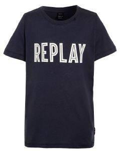 T-SHIRT REPLAY SB7308.089.20994-206 ΜΠΛΕ (104ΕΚ.)-(4ΕΤΩΝ) βρεφικά   παιδικά αγορι μπλουζεσ t shirts