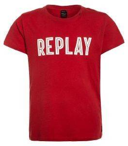 T-SHIRT REPLAY SB7308.090.20994-507 ΚΟΚΚΙΝΟ