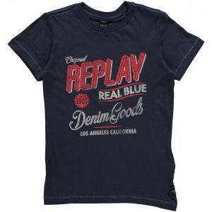 T-SHIRT REPLAY SB7308.090.20994-206 ΜΠΛΕ (164ΕΚ.)-(14ΕΤΩΝ) βρεφικά   παιδικά αγορι μπλουζεσ t shirts