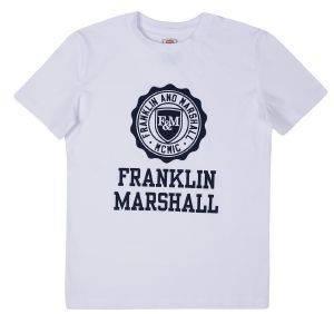 T-SHIRT FRANKLIN - MARSHALL BRAND LOGO FMS0060 ΛΕΥΚΟ (122ΕΚ.)-(6-7 ΕΤΩΝ) βρεφικά   παιδικά αγορι μπλουζεσ t shirts