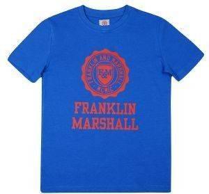 T-SHIRT FRANKLIN - MARSHALL BRAND LOGO FMS0060 ΜΠΛΕ (104ΕΚ.)-(3-4 ΕΤΩΝ) βρεφικά   παιδικά αγορι μπλουζεσ t shirts