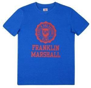 T-SHIRT FRANKLIN - MARSHALL BRAND LOGO FMS0060 ΜΠΛΕ (132ΕΚ.)-(8-9 ΕΤΩΝ) βρεφικά   παιδικά αγορι μπλουζεσ t shirts