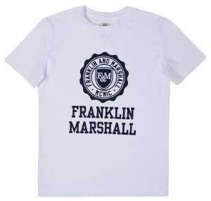 T-SHIRT FRANKLIN - MARSHALL BRAND LOGO FMS0060 ΛΕΥΚΟ (128ΕΚ.)-(7-8 ΕΤΩΝ) βρεφικά   παιδικά αγορι μπλουζεσ t shirts