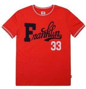 T-SHIRT FRANKLIN - MARSHALL FMS0069-10044 ΚΟΚΚΙΝΟ (132ΕΚ.)-(8-9 ΕΤΩΝ) βρεφικά   παιδικά αγορι μπλουζεσ t shirts