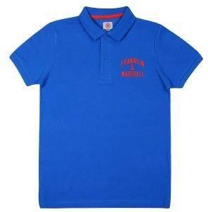 T-SHIRT POLO FRANKLIN - MARSHALL FMS0091-00213 ΜΠΛΕ (110ΕΚ.)-(4-5ΕΤΩΝ) βρεφικά   παιδικά αγορι μπλουζεσ polo t shirts