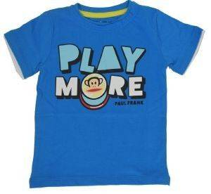 T-SHIRT PAUL FRANK PLAY MORE ΓΑΛΑΖΙΟ (140ΕΚ.)-(9-10 ΕΤΩΝ) βρεφικά   παιδικά αγορι μπλουζεσ t shirts
