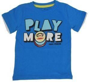 T-SHIRT PAUL FRANK PLAY MORE ΓΑΛΑΖΙΟ (176ΕΚ.)-(15-16 ΕΤΩΝ) βρεφικά   παιδικά αγορι μπλουζεσ t shirts
