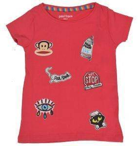 T-SHIRT PAUL FRANK PATCHES ΡΟΖ (86ΕΚ.)-(18-24ΜΗΝΩΝ) βρεφικά   παιδικά κοριτσι μπλουζεσ t shirts