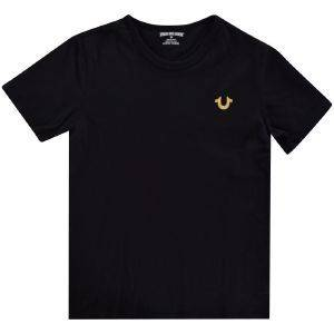 T-SHIRT TRUE RELIGION GOLD BRANDED LOGO TR146TE179 ΜΑΥΡΟ (110ΕΚ.)-(4-5 ΕΤΩΝ)