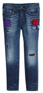 JEAN ΠΑΝΤΕΛΟΝΙ TRUE RELIGION ROCCO PATCHED TR717JN01 ΜΠΛΕ (98ΕΚ.)-(2-3ΕΤΩΝ)