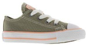 SNEAKERS CONVERSE ALL STAR CHUCK TAYLOR OX 760103C-324 ΧΑΚΙ/ΡΟΖ (EU:18) βρεφικά   παιδικά κοριτσι υποδηση sneakers χαμηλο