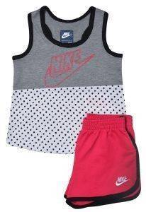 ΒΡΕΦΙΚΟ ΣΕΤ NIKE FUTURA DOT TANK FRENCH TERRY-ΡΟΖ