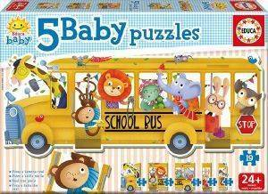 ΠΑΖΛ EDUCA DISNEY ANIMALS SCHOOL BUS 19ΤΜΧ [17575]