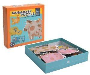 ΠΑΖΛ MIDEER MY FIRST PUZZLE MOM & BABY 18 ΤΜΧ [MD3012]