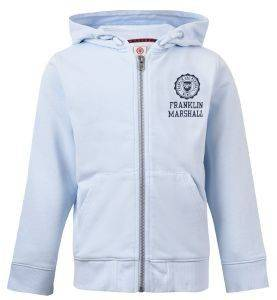 HOODIE FRANKLIN & MARSHALL BADGE LOGO FMS0057-567 ΓΑΛΑΖΙΟ