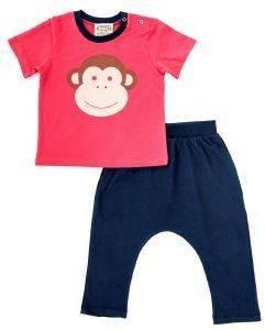 ΣΕΤ KEEN ORGANIC WWF BABY SET MONKEY ΚΟΚΚΙΝΟ/ΜΠΛΕ (18-24 ΜΗΝΩΝ) βρεφικά   παιδικά αγορι φορμεσ κοντο μανικι