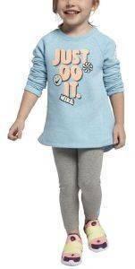 ΒΡΕΦΙΚΟ ΣΕΤ NIKE JUST DOODLE IT ΓΑΛΑΖΙΟ/ΓΚΡΙ ΜΕΛΑΝΖΕ (80-85 EK.)-(12-18 ΜΗΝΩΝ) βρεφικά   παιδικά κοριτσι φορμεσ μακρυ μανικι