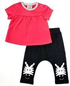 ΣΕΤ KEEN ORGANIC WWF BABY SET GIRAFFE (12-18 ΜΗΝΩΝ) βρεφικά   παιδικά κοριτσι φορμεσ κοντο μανικι
