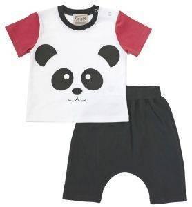 ΣΕΤ KEEN ORGANIC WWF BABY SET PANDA (12-18 ΜΗΝΩΝ) βρεφικά   παιδικά αγορι φορμεσ κοντο μανικι