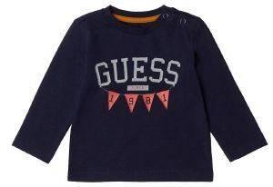 ΜΠΛΟΥΖΑ ΜΑΚΡΥΜΑΝΙΚΗ GUESS KIDS I84IO1 KSD20 ΣΚΟΥΡΟ ΜΠΛΕ (96ΕΚ.)-(18-24ΜΗΝΩΝ) βρεφικά   παιδικά αγορι μπλουζεσ μακρυμανικεσ