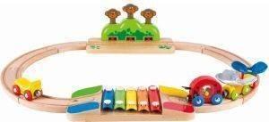 ΣΕΤ ΣΙΔΗΡΟΔΡΟΜΟΥ HAPE MY LITTLE RAILWAY SET 17ΤΜΧ βρεφικά   παιδικά παιχνιδια 12 24 μηνων ξυλινα οικολογικα παιχνιδια