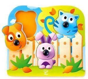 ΞΥΛΙΝΟ ΠΑΖΛ ΖΩΑΚΙΑ HAPE BIG NOSE PET PUZZLE 4ΤΜΧ βρεφικά   παιδικά παιχνιδια 12 24 μηνων puzzles