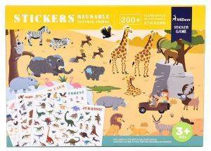 ΑΥΤΟΚΟΛΛΗΤΑ MIDEER REUSABLE STICKERS-ANIMAL 110ΤΜΧ [MD1015]