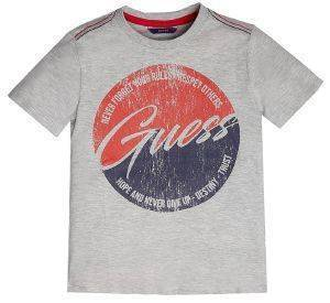 T-SHIRT GUESS KIDS L92I20 K82C0 ΓΚΡΙ ΜΕΛΑΝΖΕ
