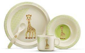 ΣΕΤ ΔΩΡΟΥ ΣΟΦΙ ΦΑΓΗΤΟΥ SOPHIE LA GIRAFE BAMBOO NATURAL MEALTIME SET