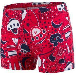 ΜΑΓΙΟ SPEEDO SPACE TRAVELLER ESSENTIAL ALLOVER AQUASHORT RISK RED/NAVY