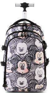 ΤΡΟΛΕΥ-ΤΣΑΝΤΑ ΔΗΜΟΤΙΚΟΥ KARACTERMANIA CLASSIC MICKEY BLACK TROLLEY TRAVEL BACKPACK OH BOY 48X30X20C