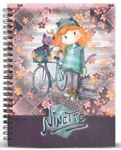 ΤΕΤΡΑΔΙΟ ΣΠΙΡΑΛ A4 KARACTERMANIA  FOREVER NINETTE MULTICOLORED PAPER NOTEBOOK BICYCLE 120ΦΥΛΛΑ
