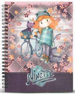 ΤΕΤΡΑΔΙΟ ΣΠΙΡΑΛ A5 KARACTERMANIA  FOREVER NINETTE MULTICOLORED GRID PAPER NOTEBOOK BICYCLE 120ΦΥΛΛΑ