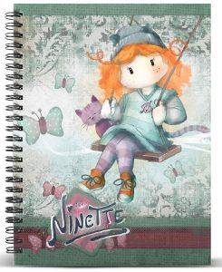 ΤΕΤΡΑΔΙΟ ΣΠΙΡΑΛ A4 KARACTERMANIA  FOREVER NINETTE MULTICOLORED PAPER NOTEBOOK SWING 120ΦΥΛΛΑ
