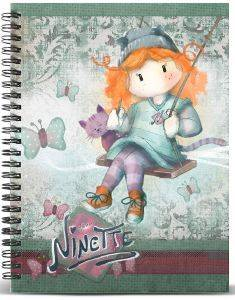 ΤΕΤΡΑΔΙΟ ΣΠΙΡΑΛ A5 KARACTERMANIA  FOREVER NINETTE MULTICOLORED GRID PAPER NOTEBOOK SWING 120ΦΥΛΛΑ