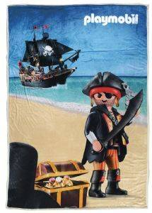 ΚΟΥΒΕΡΤΑ FLEECE SHERPA ΜΕ ΓΟΥΝΑ DAS KID PLAYMOBIL - PIRATE 160X220CM ΣΧ. 5022