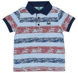 POLO T-SHIRT BENETTON ART 1 BOY ΓΑΛΑΖΙΟ