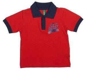 POLO T-SHIRT BENETTON ART 2 BOY ΚΟΚΚΙΝΟ