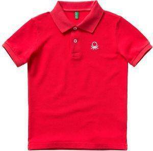 POLO T-SHIRT BENETTON BASIC TK ΚΟΚΚΙΝΟ