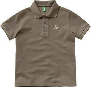POLO T-SHIRT BENETTON BASIC TK ΧΑΚΙ