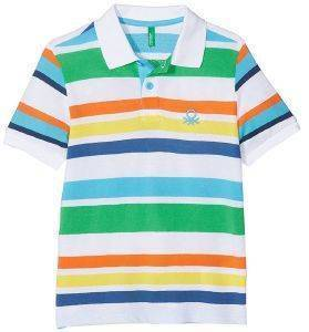 POLO T-SHIRT BENETTON BROTHERS ΡΙΓΕ ΠΟΛΥΧΡΩΜΟ