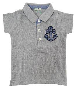 POLO T-SHIRT BENETTON CLASS HIM ΓΚΡΙ