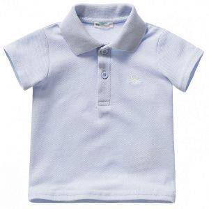 POLO T-SHIRT BENETTON FOUNDATION BABY ΘΑΛΑΣΣΙ