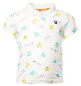 POLO T-SHIRT BENETTON FOUNDATION BABY ΛΕΥΚΟ