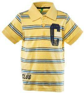 POLO T-SHIRT BENETTON FUN TK ΡΙΓΕ ΚΙΤΡΙΝΟ