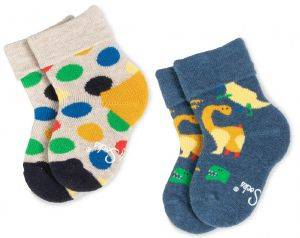 ΚΑΛΤΣΕΣ HAPPY SOCKS 2 PACK KIDS BIG DOT TERRY KBDO45-6500 2TMX