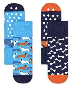 ΚΑΛΤΣΕΣ HAPPY SOCKS 2 PACK KIDS DOG ANTI-SLIP SOCKS KDOG19-6300 2TMX ΜΠΛΕ/ΜΠΛΕ ΣΚΟΥΡΟ
