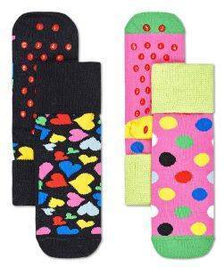 ΚΑΛΤΣΕΣ HAPPY SOCKS 2 PACK KIDS HEART ANTI-SLIP SOCKS KHEA19-9300 2TMX